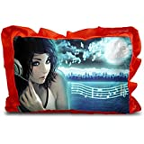 Sleep Nature's Baby Pillow For Kids|Soft Baby Pillow|Rectangle Shape|Soft Toys|Cartoon Printed|Red Colour Pillow|Pillow Size 14x20 Inches|116