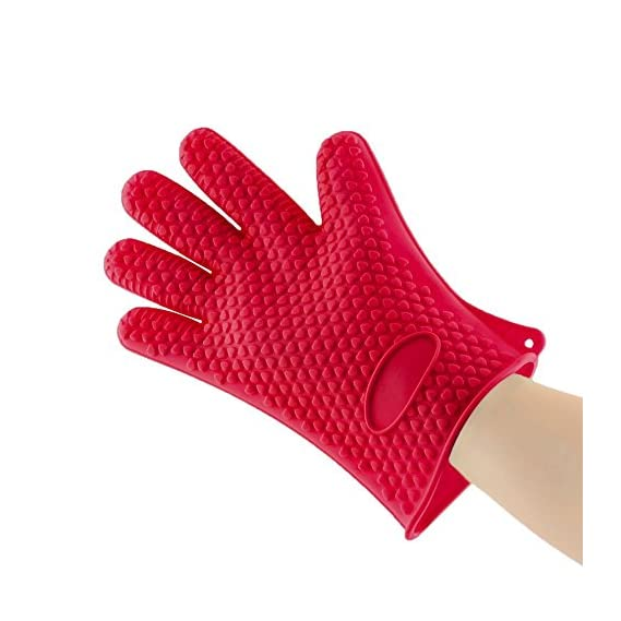 Sevitsil Sillcone Cleaning Gloves for Bathroom | Dishwashing | Kitchen Cooking (Red)