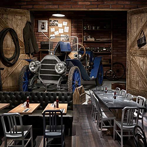 3D tapete Wandbilder Benutzerdefinierte Foto Auto Retro Nostalgischen Stil Restaurant Cafe Milch Tee Shop Hintergrund Wanddekor Kunst Wandmalerei 300x210cm