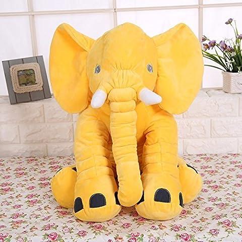 missley bébé éléphant en peluche en peluche Oreillers Gelb Taie d'oreiller de couchage pour bébé Jouet en peluche éléphant