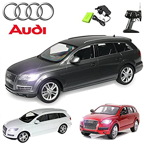Comtechlogic® CM-2113 Official Licensed 1:14 Audi Q7 Radio Controlled RC Electric Rechargeable Car - Ready to Run EP RTR (GREY)