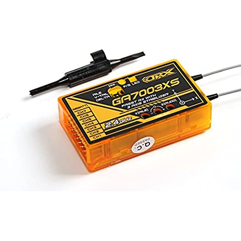 HobbyKing - OrangeRx GA7003XS Futaba FASST Compatible 7ch 2.4Ghz Receiver with 3 Axis Stabilizer FS and SBus - DIY Maker Booole