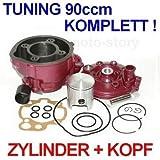 Unbranded 90 CCM Sport Racing Tuning Zylinder KIT Kopf Set für Motor 50 AM6 AM 6 EU1 EU 1 Zylinderkit