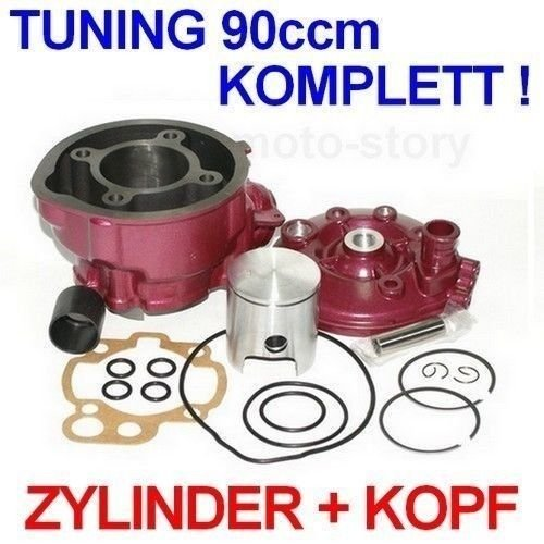 Unbranded 90 CCM Sport Racing Tuning Zylinder KIT Kopf Set für BETA RR SHERCO Enduro 50 Zylinderkit