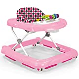 Schaukel, Lauflernhilfe und Spielsitz in Einem mit Sicherheitsbremse verstellbarem Sitz • Baby Walker Gehfrei Lauflernwagen Babywippe Babyschaukel Laufwagen