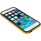 Iphone 6/6s Silicon Bumper Orange Black by G4GADGET®