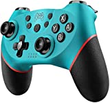 Diswoe Controller für Nintendo Switch, Bluetooth Wireless Pro Controller für Nintendo Switch/Switch Lite mit Vibration und Turbo Funktion Wiederaufladbar Switch Gamepad Controller mit Achse Sensor