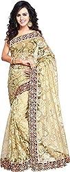 Aruna Net Saree (ARNS_3_Beige)