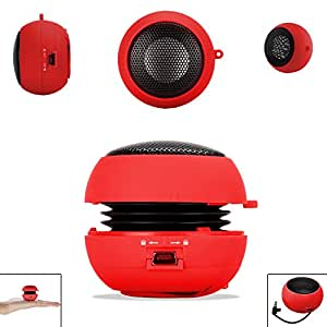 Red 3.5mm Audio Jack Portable Plug and Play Hamburger Rechargeable Mini Wired Speaker For NOKIA LUMIA 510 Mobile Cellular Cell Phone