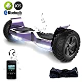 EVERCROSS Hoverboard Challenger Basic Monopattino Elettrico Autobilanciato, Balance Scooter Skateboard, con Due ruote 8.5 in, Bluetooth, APP e LED,Inclusa Batteria e Borsa,15Km/H (Placcatura Violetto)