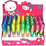 Jiada Stacking Pen Type Erasers Goody Bag Fillers for Kids (Multicolour) - Set of 36