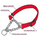 WHFDRHCWXQ Haustierhalsband Breites Nylon Einfarbig Hundehaustier-Choke-Kettenhalsband 4 Farben 16-29, M
