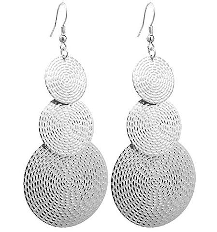 2LIVEfor Lange Ohrringe Silber Tropfen Ohrringe lang Hängend Groß Antik