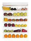 FRUITWALL - Obstregal zum Aufhängen I Obst Hängekorb I Obstschale Design I Wandregal für Obst & Gemüse I Hängeregal I Gemüseampel I Obst Aufbewahrung Wand I Küchenregal für die Wand I 6 Etagen - Weiß