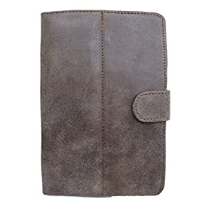 Jo Jo G1 Europa Suede Flip Flap Case Cover Pouch Carry For Toshiba Excite Go Brown