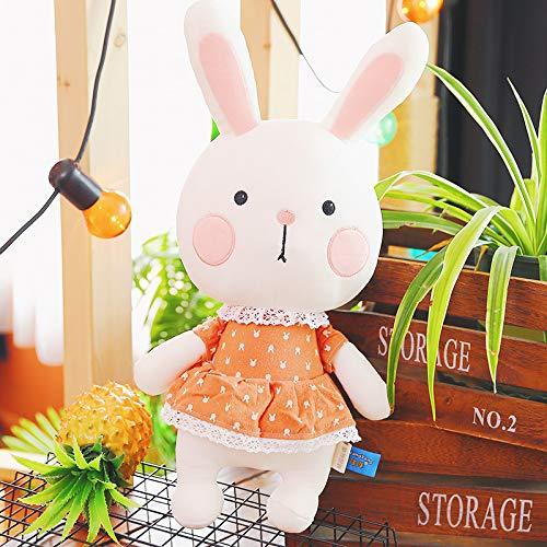 ahzha Neue Tricolor Tuch Tuk-tuk Kaninchen Plüsch Spielzeug Kreative Niedliche Puppen Senden Mädchen Kinder Urlaub Geburtstagsgeschenk 35cm c (Robbe Puppe)