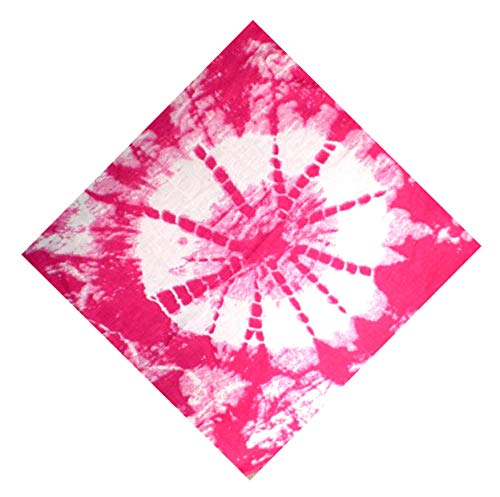 Tuecher Nickituch neon Batik-Style bunt Regenbogen Design Herren Damen universal Tuch Bandana paisl. Kopftuch Palesti. Scarf Halstuch Armband Zantana Nikituecher ca 55x55cm 5098: Farbe: pink 5100