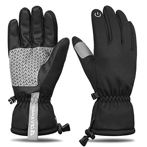 Yobenki Skihandschuhe Warm Winterhandschuhe rutschfeste Touchscreen Handschuhe Sporthanschuhe Wasserdicht mit 3M Thinsulate Insulation für Unisex Snowboard, Motorrad, Bergsteigen -20 °C/-4℉