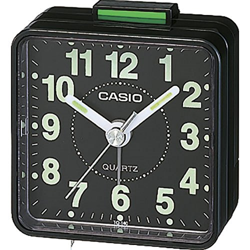 Casio TQ-140 – 1 Alarm Clock – Alarm Clocks (57 x 33 x 57 mm, Black)
