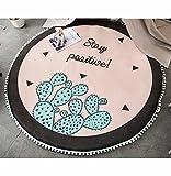 TWGDH Runde Play Pad Kissen Spiel Spiel Matte Kinderteppich Innen Teppich Bett Volant Dekoration Für Kinder Kinder Kleinkinder Schlafzimmer,#4,Diameter140cm