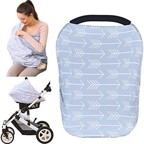 Kiddo Care Nursing Cover Infinity Nursing Scarf for Breastfeeding (Grey Arrows)