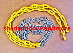 5 1/2 Ft Coated Chain for Swings Yellow Sold By Pair, 66