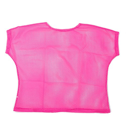 Neon Pink Fishnet Mesh T-shirt - Loose Fit - choice of colours