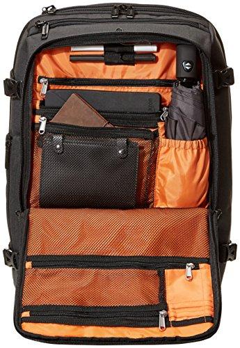 Best amazon backpacks in India 2020 AmazonBasics Slim Carry On Laptop Travel Weekender Backpack - Black Image 4