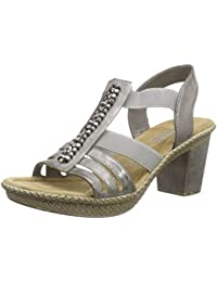 Rieker 66584 Women Open Toe, Damen Sandalen
