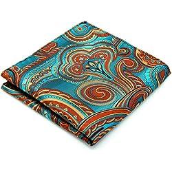 Pañuelo de bolsillo Geométrico Floral de Seda