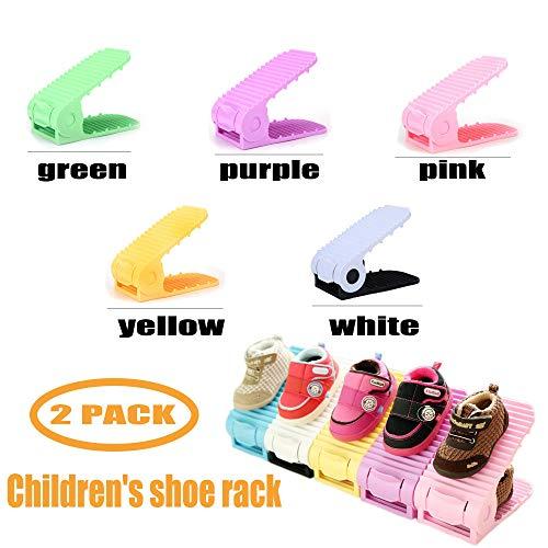 Duobao Kinderschuhregal Verstellbare Schuhregal Schuhregal Schuhaufbewahrung Zuhause Umweltschutz...
