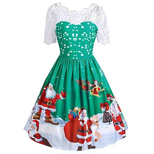 IZHH Weihnachtskleid Damen, Abendkleider Kleider Cocktailkleid Abendmode Ballkleider Abiballkleider...