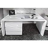 Design Büro Schreibtisch Porto, weiß, Hochglanz, 120x60cm 6958