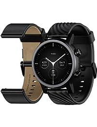 Motorola Moto 360 Smartwatch – 3ª generación – Caja de acero inoxidable con bandas de 20 mm, batería para todo el día, WearOS de GoogleTM – Color negro
