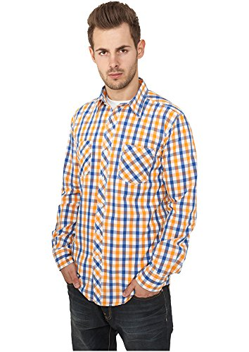 Urban Classics Herren Freizeithemd Tricolor Big Checked Shirt Mehrfarbig (Roywhtora 00368)
