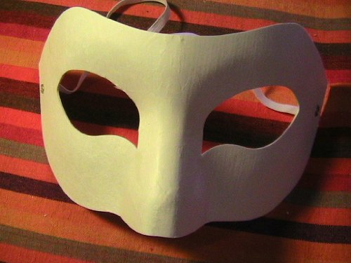 Blank Augenmasken - 50 (Halloween Paper Mache Masken)