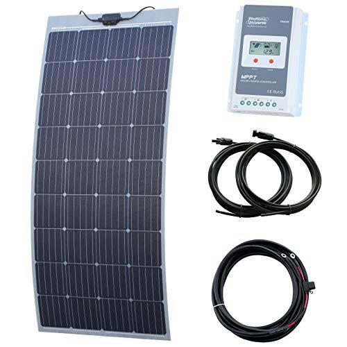 170 Watt-solar-panel (Solarlade-Set, 170 W, semi-flexibel, mit österreichischem texturiertem Fiberglas Solarpanel (mit Selbstklebender Rückseite))