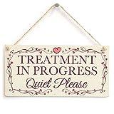 meijiafei Behandlung in Progress leise Bitte–Pretty Love Herz Rahmen-Design Schild/Plakette 25,4x 12,7cm
