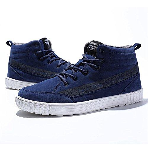 Scarpe Tuoking Di Lace Alta Da Crescente Sostenibile Tennis Scarpe Blu Shoesing Altezza Pattinare Up Casuali Uomini Moda CRgCxZrwq