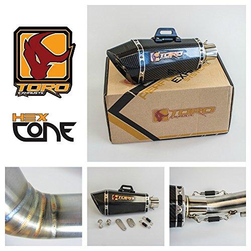 Toro T1 Hex Kit di scarico Cone Gloss Moto Carbon - Honda CBR 600 F4I 2001-2006