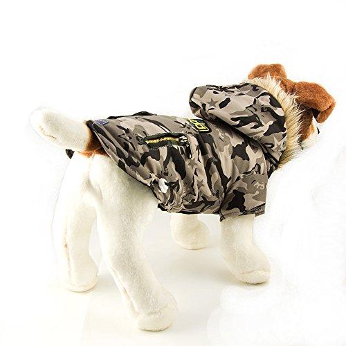 Hundejacke, Hundeweste, Winterjacke mit Kapuze im Militärlook Größe: L - 6