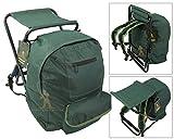 Roddarch© Fishing Tackle Seat Bag Backpack Rucksack Camping Stool Seat Box Tackle Box Bag