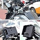 awhao Portacellulare per Moto - 1 PC di Caricabatterie USB per Moto Supporto per Telefono Cellulare per BMWF700/800GS, BMWR1200GSADV, CRF1000L, CRF1000L2016, 12MMRollBar Wonderfully