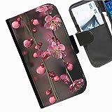 Hairyworm- Blumen Seiten Leder-Schützhülle für das Handy Sony Xperia T2 Ultra