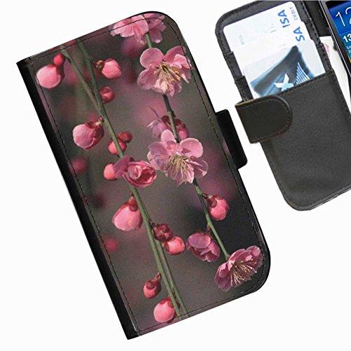 Hairyworm- Blumen Seiten Leder-Schützhülle für das Handy Blackberry 9720