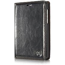 BlackBerry Passport 2 Funda - Magnetic Adsorption Smooth Soporte Cuero Combo Case Cover Ranura para Tarjetas, Billetera para BlackBerry Passport 2 - Negro