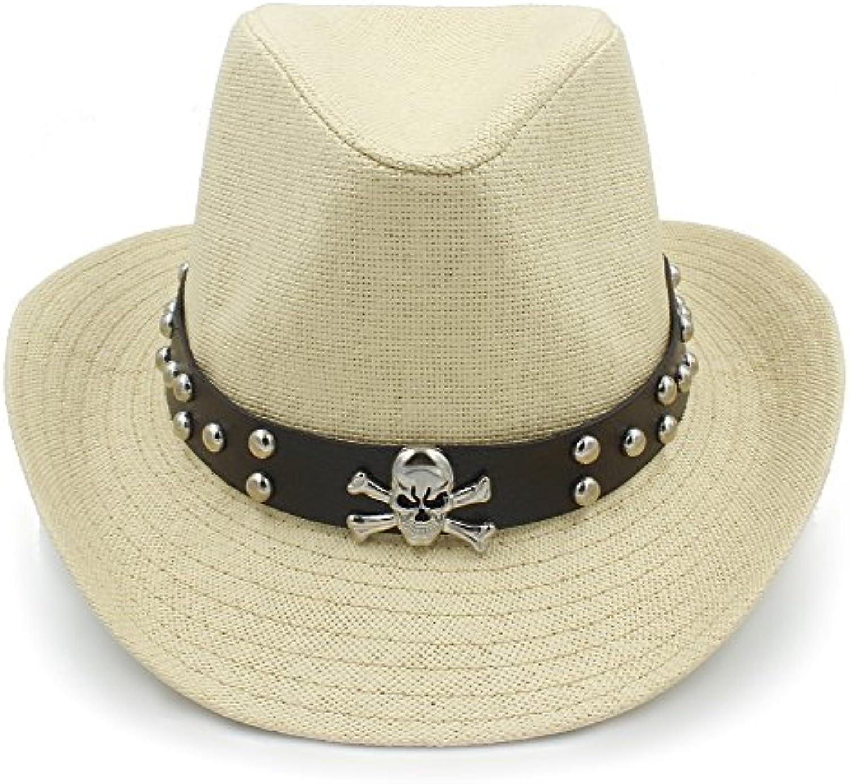 GBY Cappelli da Cowboy Western Sombrero di Paglia Punk da Uomo con Cintura  Punk Paglia ( 1aaf892bbfb3