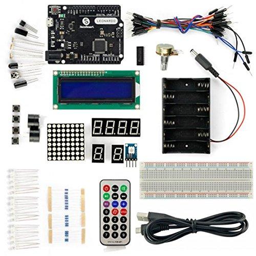 SainSmart Leonardo R3 Kit (1602 Modulo LCD incluso) Con Tutorial Manuale di istruzioni su Arduino Progetti di base