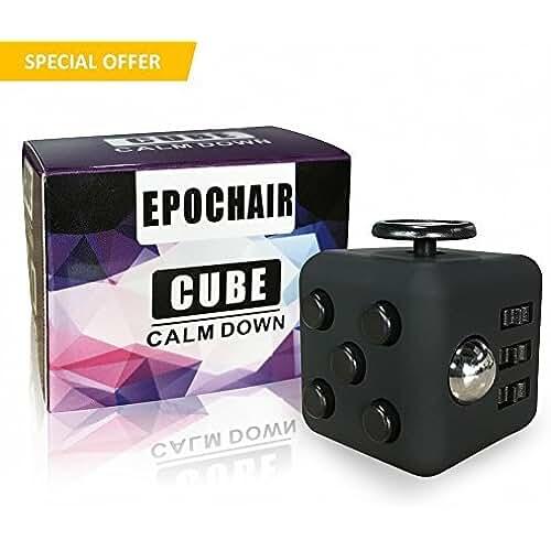 fidget spinner el nuevo juguete de moda EpochAir Fidget Cube Alivia el Estrés y Ansiedad con 6 Funciones Distintas para Niños Jóvenes Adultos (Negro)