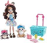 Mattel Enchantimals FCC64 - Themenpack Bären-Picknick mit Bärenmädchen Bren Bear Puppe und zwei Tierfreunden